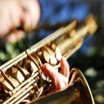 David Layton sax closeup